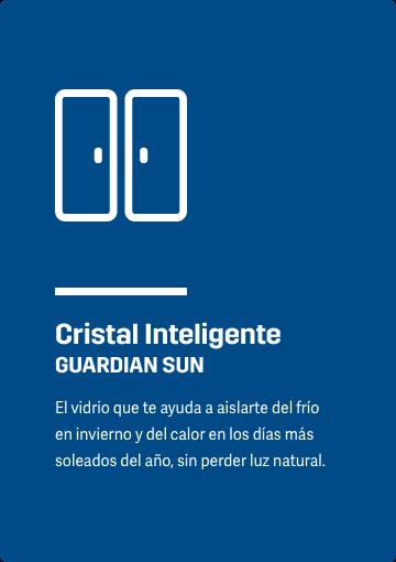 Cristal Inteligente GUARDIAN SUN El vidrio que te ayuda a aislarte del frío en invierno y del calor en los días más soleados del año, sin perder luz natural.